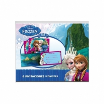 Invitaciones Frozen C/sobre