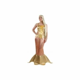 Disfraz Sirenita dorada  para mujer