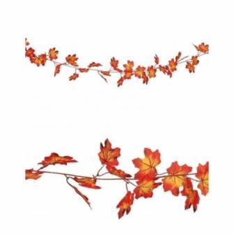 Guirnalda hojas naranja 190 cms.