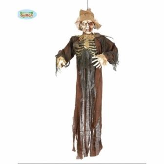 Colgante Esqueleto Con Ratas 150 Cms
