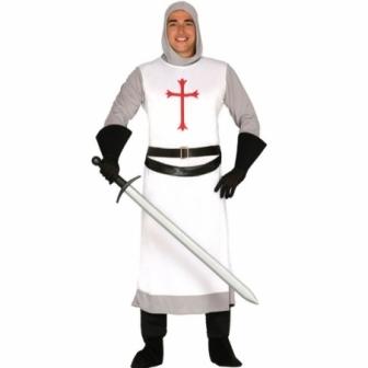 Disfraz Caballero Cruzado Blanco hombre