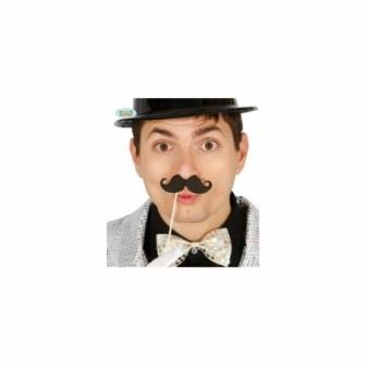 Set 6 bigotes con palo 10 cms.