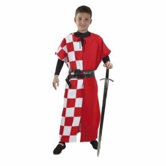 Sobrevesta Medieval Cuadros Infantil