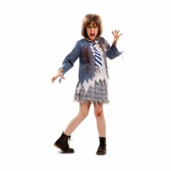 Disfraz Estudiante Zombie para niña
