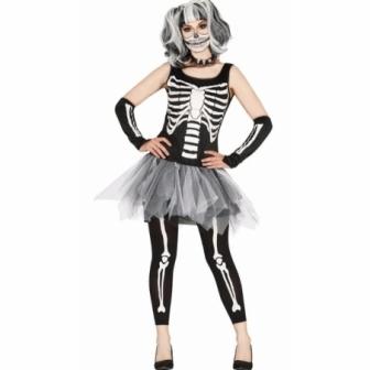 Disfraz Skeleton tutu mujer