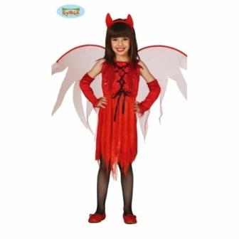 Disfraz Diablilla con Alas niña