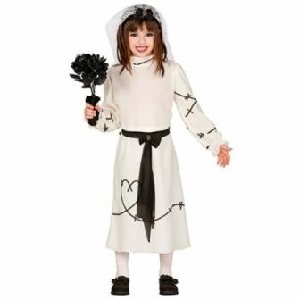 Disfraz Novia cadaver para niña