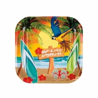 Platos Hawai Beach desechables 6 uds.