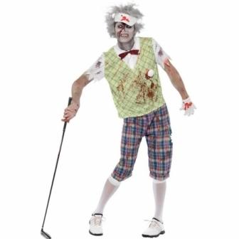 Disfraz golfista zombie adulto