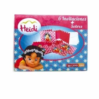 6 Invitaciones Heidi Con Sobre