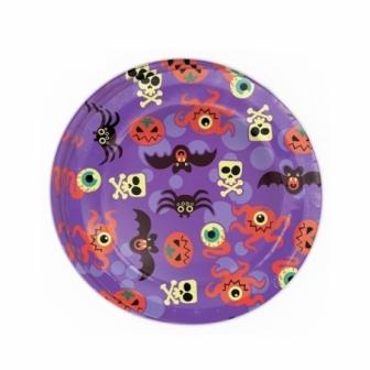 Bolsa 8 Platos 23 Cm. Halloween