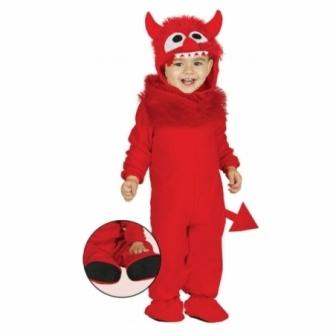 Disfraz Monstruo Rojo Bebé
