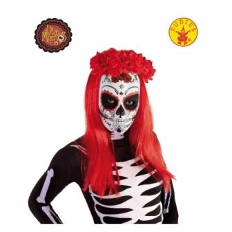 Máscara Calavera Katrina Rosas