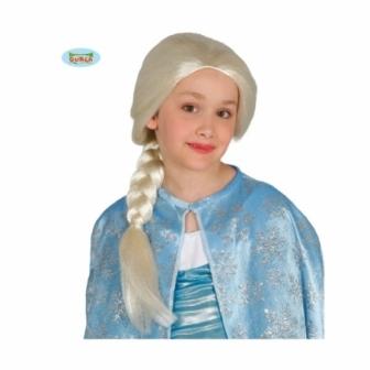 Peluca princesa infantil escarchada