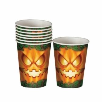 Bolsa 8 Vasos Halloween 10 Cm