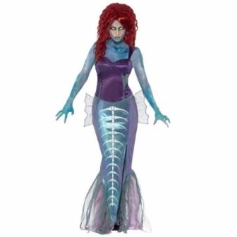 Disfraz de Sirenita Zombie mujer