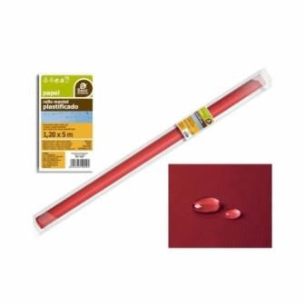 Rollo Mantel Plastificado Rojo 5x1.20m