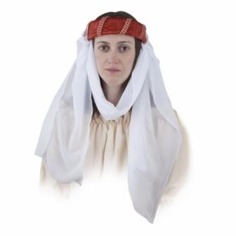 Tocado Medieval Con Velo