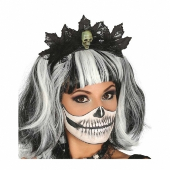 Diadema con calavera halloween