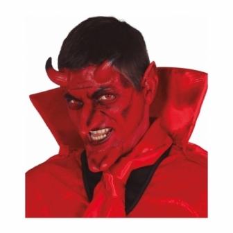 Set Demonio cuernos,orejas,menton