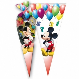 Bolsa cono Mickey CH Balloons 6 unid.