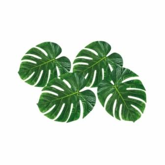 4 Hojas de Palmera decoración hawaiana