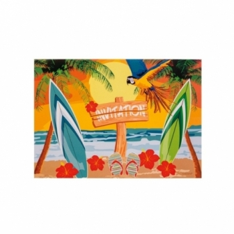 Invitaciones Fiesta Hawaiana Beach