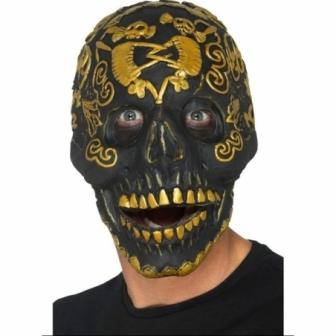Máscara Esqueleto negro deluxe