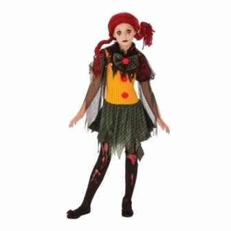 Disfraz Payaso Zombie para niñas