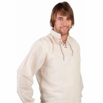Camisa Medieval cruda adulto