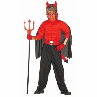 Disfraz Diablo musculoso para niño