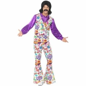 Traje Hippie de los años 60 adulto