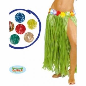 Falda Hawaiana larga colores flor 75 cm