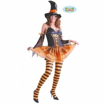 Disfraz Bruja Naranja Adulta