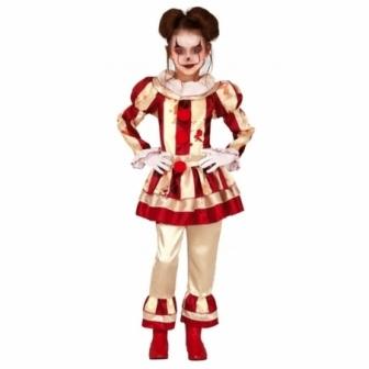 Disfraz de Payasa a rayas asesina niña