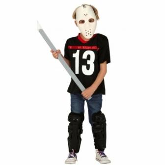 Disfraz jugador hockey asesino niño