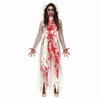 Disfraz novia sangrienta para mujer