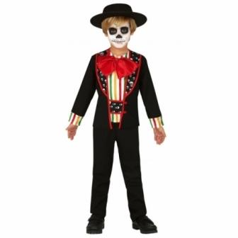 Disfraz esqueleto dia de difuntos niño