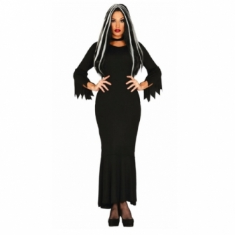 Disfraz Morticia dark mujer