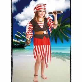 Disfraz Pirata Roja para niña