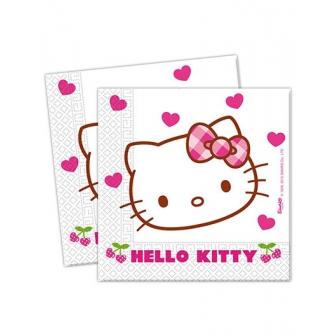 Bolsa 20 Servilletas Hello Kitty Corazón