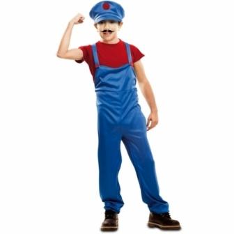 Disfraz Super Fontanero rojo infantil